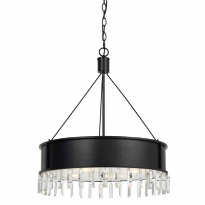 Invogue Lighting 28 Inch Metal Chandelier in Iron Finish