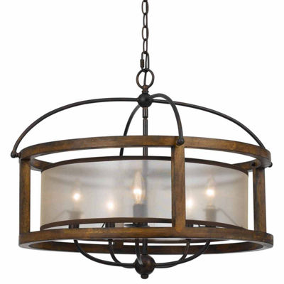 Invogue Lighting 20.50 Inch Five Light Round Chandelier in Dark Bronze