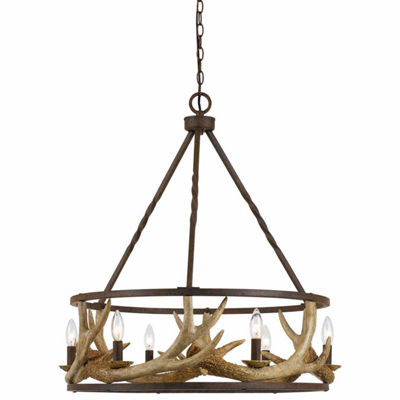 Invogue Lighting 31.5 Inch Resin and Metal Chandelier in Rust finish
