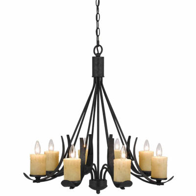Invogue Lighting 28 Inch Tall Metal Chandelier in Black Smith Finish
