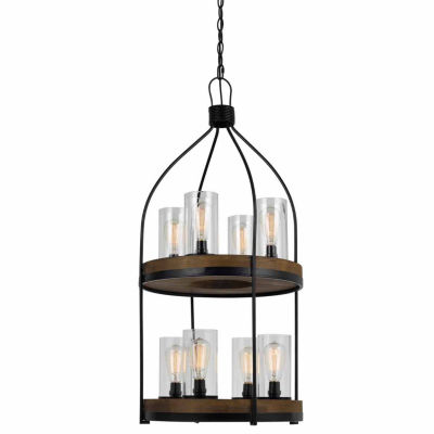Invogue Lighting 39 Inch Tall Metal and Wood Fixture in Iron Wood Finish
