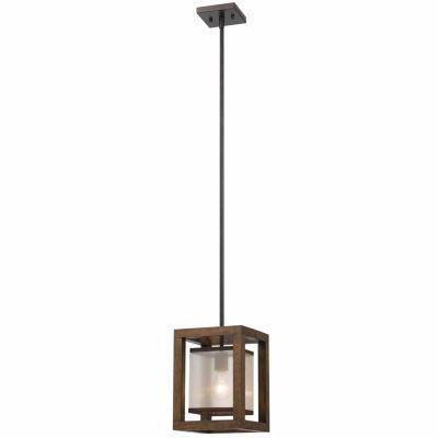 Wooten Heights 39 Inch Single Mini Pendant in Dark Bronze