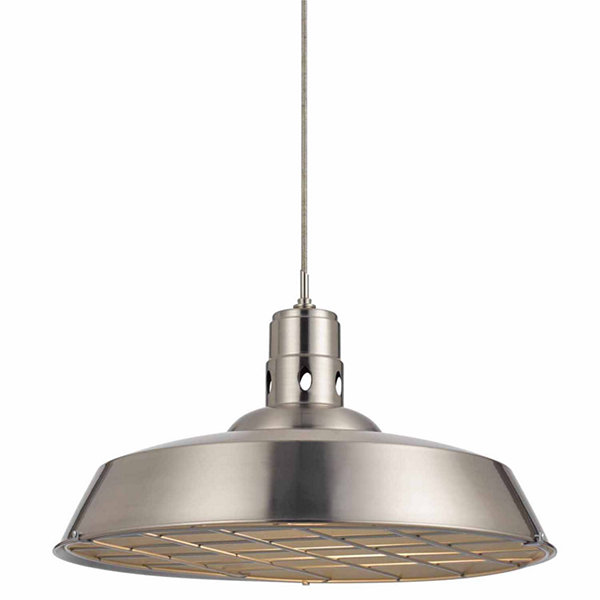 "Wooten Heights 10.38"" Tall Metal Pendant in Rust"