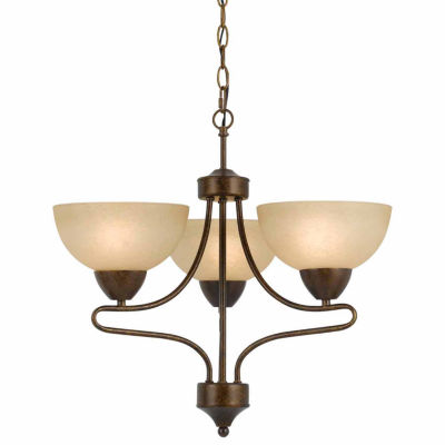 Invogue Lighting 18.88 Inch Three Light Chandelier in Rust