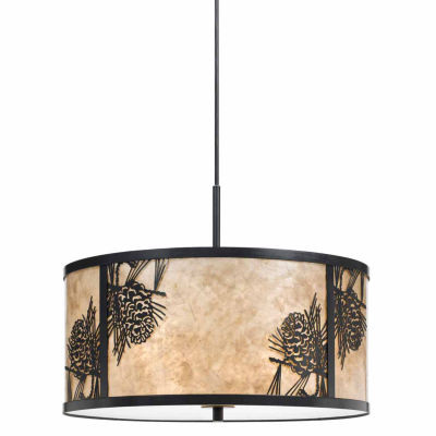 Invogue Lighting 8.5 Inch Tall Metal and Mica Fixture in Dark Bronze Finish