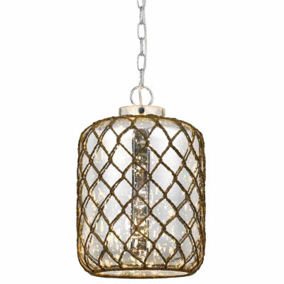 Wooten Heights 15.5 Inch Tall Glass Pendant in Glass Finish