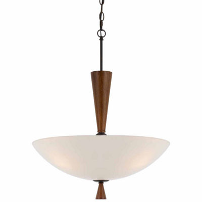 Wooten Heights 25.50 Inch Glass Pendant Fixture in Mahogany