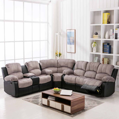 Camilla Two-Tone Recliner Sectional