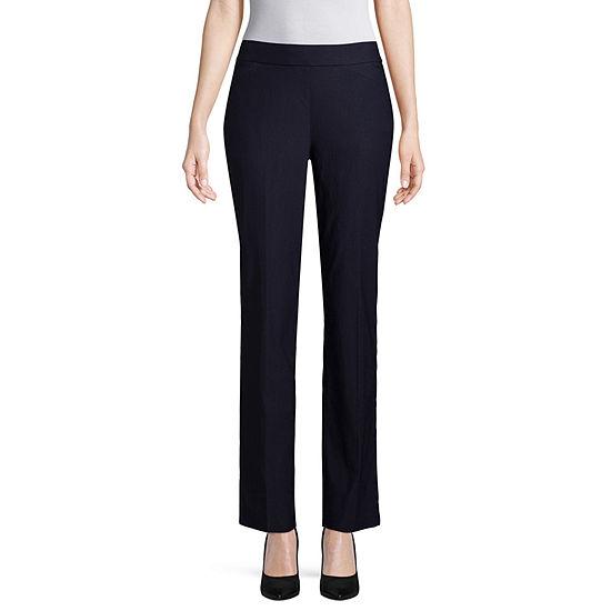 Worthington Womens Mid Rise Slim Pull On Pants