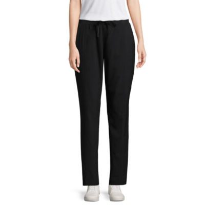 St. John's Bay Active Straight Fit Woven Pull-On Pants