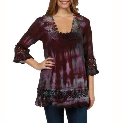 24/7 Comfort Apparel Mendocino Sweater Knit Tunic Top
