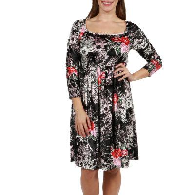 24/7 Comfort Apparel Veronica Velvet Dress - Plus