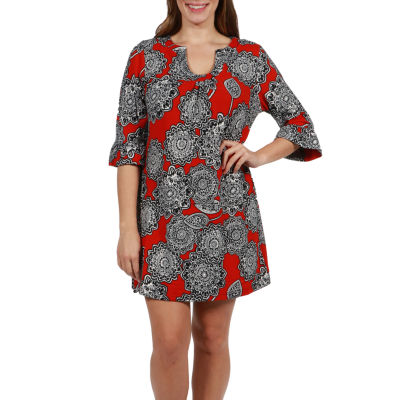 24/7 Comfort Apparel Sawyer Luxury Sweater Knit Dress - Plus
