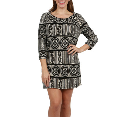 24/7 Comfort Apparel Kynlee Luxury Sweater Knit Dress - Plus