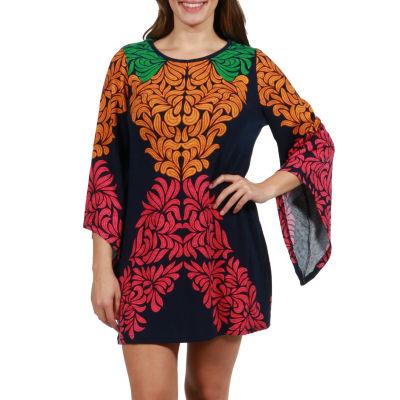 24/7 Comfort Apparel Katherine Luxury Sweater Knit Tunic Top - Plus