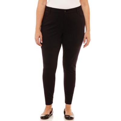 """Liz Claiborne Classic Slim Fit Ponte Pant-Plus Short (26.5"""")"""