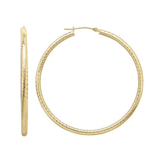 Infinite Gold™ 14K Yellow Gold Hoop Earrings
