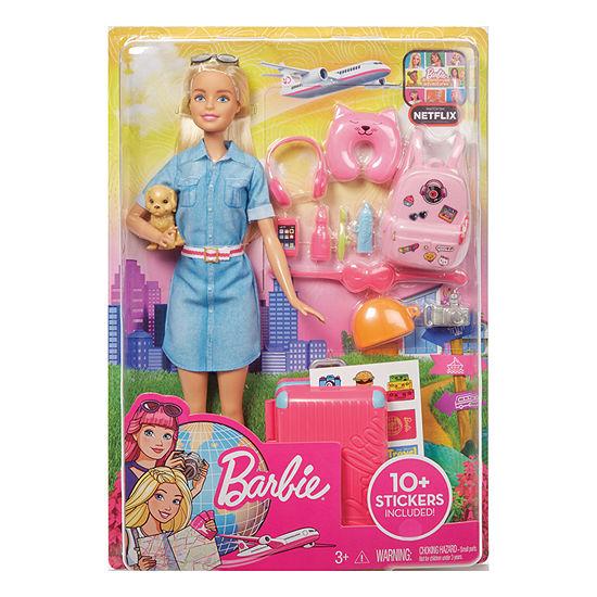 Barbie Travel Doll & Accessories Set