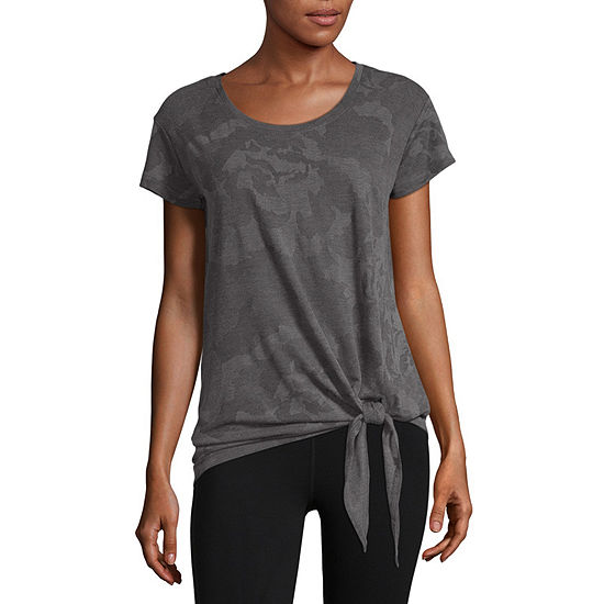 Xersion Front Tie Tee - Tall