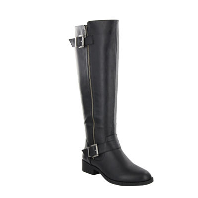 Mia Girl Womens Riding Boots Block Heel Zip