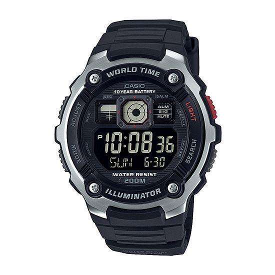 Casio Mens Black Strap Watch-Ae2000w-1bv