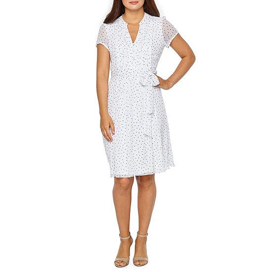 MSK Short Sleeve Shirt Dress