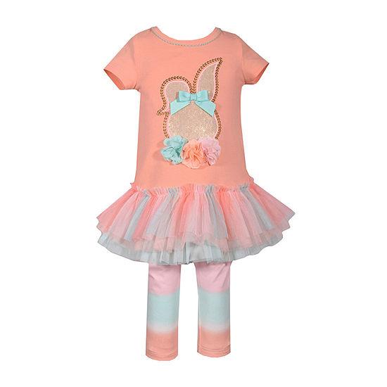 Bonnie Jean Bunny Tutu Girls 2-pc. Legging Set-Baby