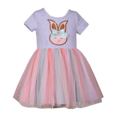 Bonnie Jean Bunny Short Sleeve Tutu Dress Girls