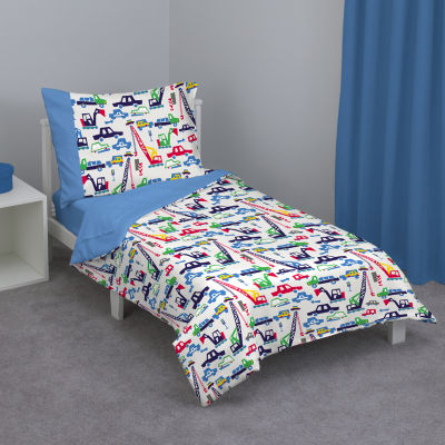 Zutano Cars & Construction 4-pc. Toddler Bedding Set