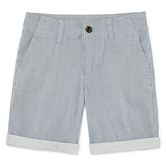 Arizona Boys Stretch Adjustable Waist Chino Short Preschool / Big Kid