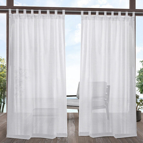Exclusive Home Curtains Indoor/Outdoor Miami Room Darkening Tab-Top Set of 2 Curtain Panel