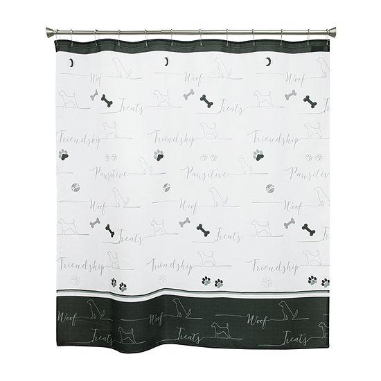 Bacova Guild Underline Dogs Shower Curtain