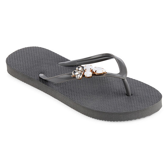 Mixit Womens Brooch Zori Flip-Flops