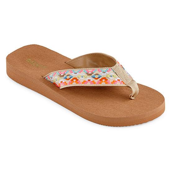 Mixit Womens Ribbon Thong Flip-Flops
