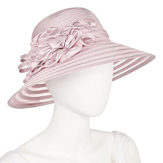 Scala Tafeta Braid With Flowers Derby Hat