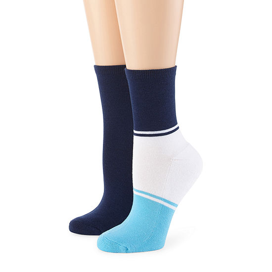 Mixit Pillow Sole 2 Pair Crew Socks - Womens