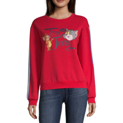 Womens Round Neck Long Sleeve Sweatshirt Juniors