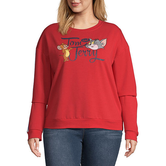 Womens Round Neck Long Sleeve Sweatshirt Juniors