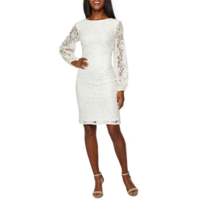 Blu Sage Long Sleeve Lace Sheath Dress