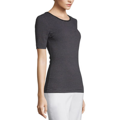Worthington Short Sleeve Round Neck Tee - Tall
