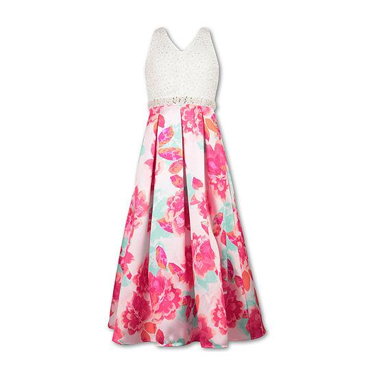 Speechless Big Girls Embellished Sleeveless Maxi Dress