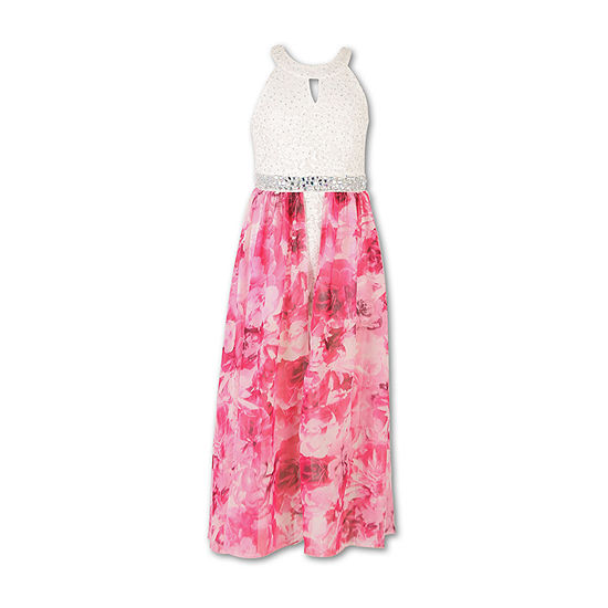 Speechless Girls Embellished Sleeveless Party Dress - Big Kid