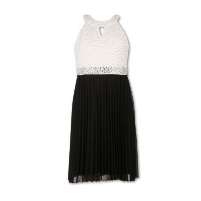 Speechless Embellished Sleeveless Party Dress Girls