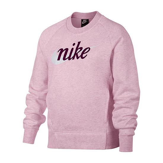 Nike Long Sleeve Logo Sweatshirt - Big Kid Girls 7-16