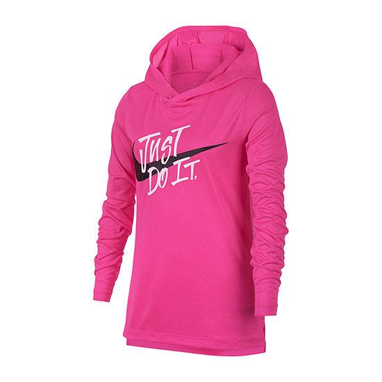 Nike Long Sleeve Quick-Dri Hooded Top - Big Kid Girls 7-16