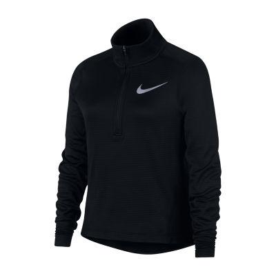 Nike Quarter-Zip Mock Neck Long Sleeve Top - Big Kid Girls 7-16