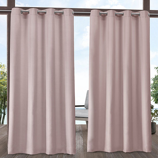 Exclusive Home Curtains Indoor/Outdoor Solid Room Darkening Grommet-Top Set of 2 Curtain Panel