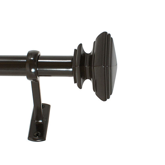 Decopolitan Square Outdoor 1 In Curtain Rod