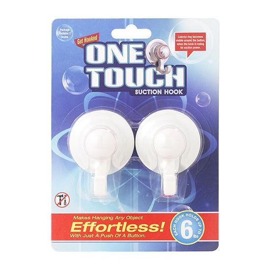 One Touch Hooks White Bathroom Organizer