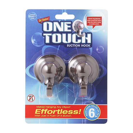 One Touch Hooks Brown Bathroom Organizer